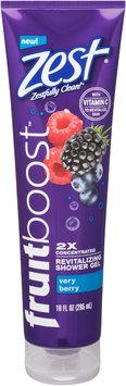 Slide: Zest® Fruitboost™ Very Berry 2x Concentrated Revitalizing Shower Gel