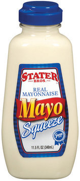 Stater Bros. Real Mayonnaise Mayo 11.5 Oz Squeeze Bottle