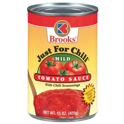 Brooks Just For Chili Mild W/Chili Seasonings Tomato Sauce 15 Oz Can