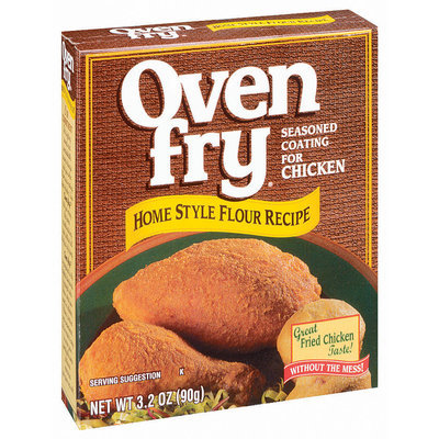 Oven Fry Home Style Flour For Chicken Recipe Seasoned Coating 3.2 Oz Box