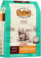 Nutro® Adult Chicken, Whole Brown Rice & Oatmeal Recipe Dog Food 30 lb. Bag