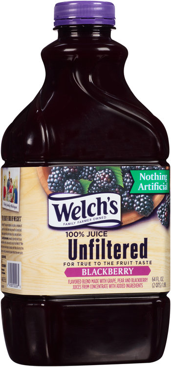 Welch S 174 Unfiltered Blackberry 100 Juice 64 Fl Oz
