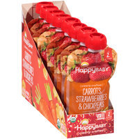 Happy Baby® Organics Clearly Crafted™ Carrots, Strawberries & Chickpeas Organic Baby Food 8-4 oz. Pouches