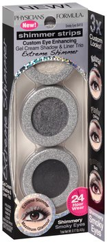 Physicians Formula® Shimmer Strips Custom Eye Enhancing Gel Cream Shadow & Liner Trio Smoky Eyes Extreme Shimmer  0.17 oz. Peg