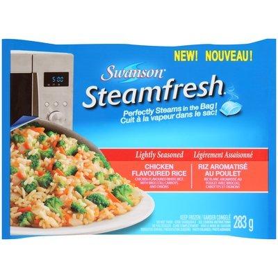 Swanson® Steamfresh® Lightly Seasoned Chicken Flavored Rice 283g Bag