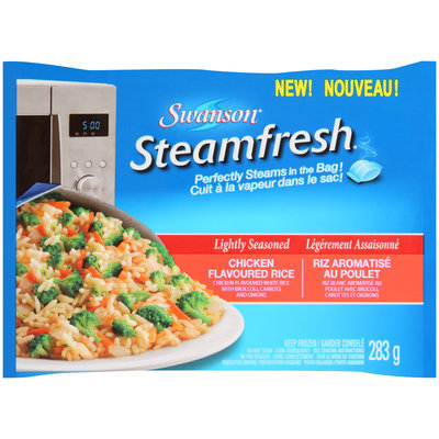 Swanson® Steamfresh® Lightly Seasoned Chicken Flavored Rice 283g Bag
