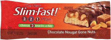 Slim-Fast 3-2-1 Snack Bars Chocolate Nougat Gone Nuts Snack Bar .77 Oz Wrapper