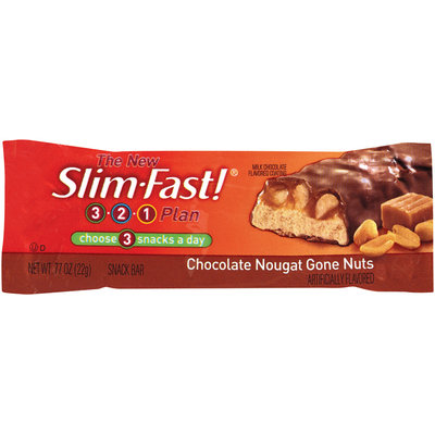 SlimFast 3.2.1 Plan Chocolate Nougat Gone Nuts Snack Bars
