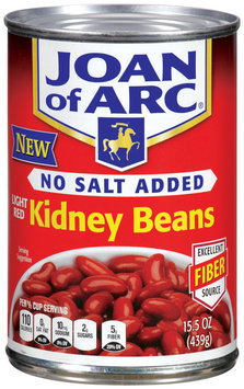 Joan of Arc® No Salt Added Light Red Kidney Beans 15.5 oz Can