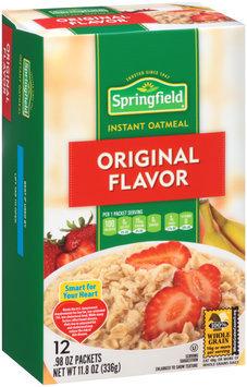 Springfield Original Flavor Instant Oatmeal 11.8 oz. Box