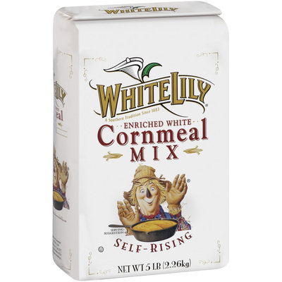 White Lily Enriched White Self-Rising Cornmeal Mix 5 Lb Bag
