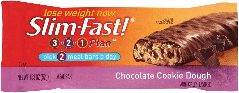 SlimFast 3.2.1 Plan Chocolate Cookie Dough Meal Bars