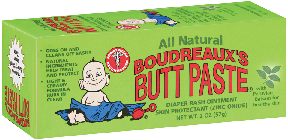 Boudreaux's Butt Paste® All Natural Diaper Rash Ointment 2 Oz Tube