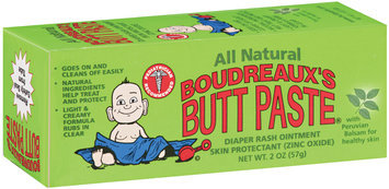 Boudreaux's Butt Paste® All Natural Diaper Rash Ointment 2 Oz Tube