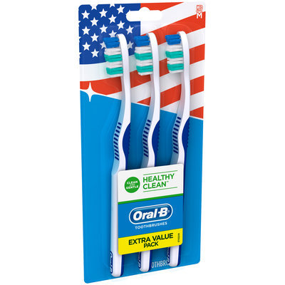 Healthy Clean Oral-B Healthy Clean Medium Toothbrush 3 Count