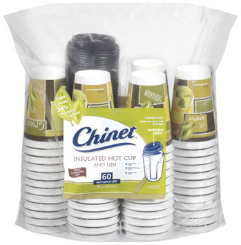 Comfort Cup Insulated 60 Ct Hot Cups & Lids 16 Oz Cup