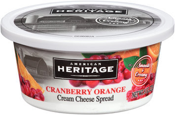 American Heritage® Cranberry Orange Cream Cheese Spread 8 oz. Plastic Tub