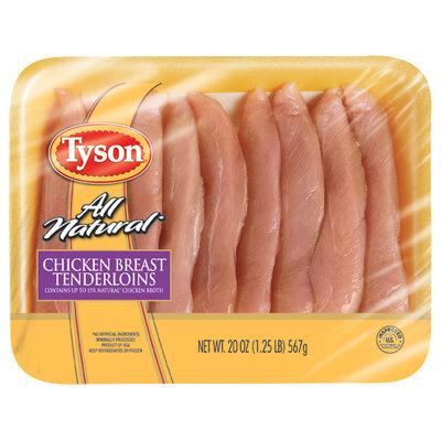 Tyson® All-Natural Chicken Breast Tenderloins 20 oz. Package
