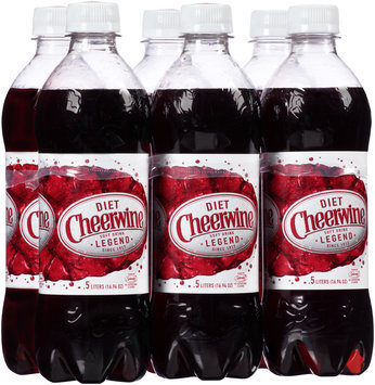 Diet Cheerwine® Cherry Soft Drink 6-0.5L Bottles