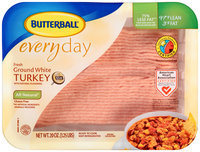 Butterball® Everyday Fresh 97% Lean Ground White Turkey 20 oz. Tray