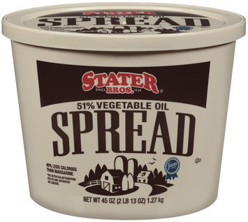 Stater Bros. 51% Vegetable Oil Spread 45 Oz Tub