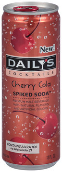 Daily's® Cocktails Spiked Soda™ Cherry Cola 12 fl. oz. Can