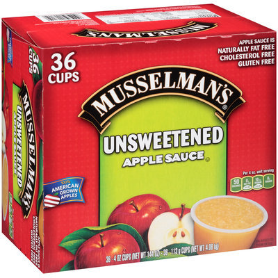 Musselman's® Unsweetened Apple Sauce 36 ct Cups 144 oz. Box