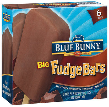 Blue Bunny Big Fudge 2.5 Oz Ice Cream Bar 6 Ct Box