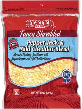 Stater Bros. Pepper Jack & Mild Cheddar Blend Cheese 8 Oz Peg