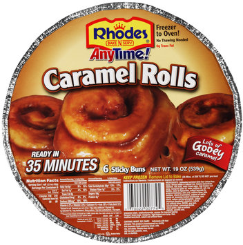 Rhodes® Anytime!™ Caramel Rolls 6 ct Tray