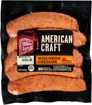 Hillshire Farm® American Craft™ Wisconsin Cheddar Cheese Smoked Sausage 14.5 oz. Pack