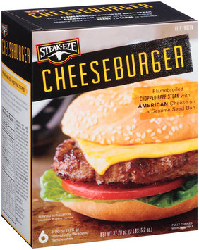 Steak-Eze® Cheeseburger 6-6.2 oz. Box
