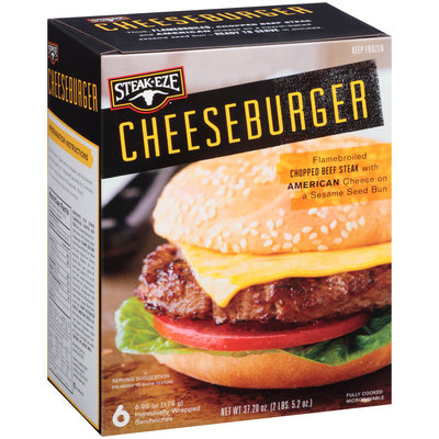 Steak-Eze® Cheeseburger 6-6.2 oz. Box
