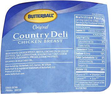 Butterball® Original Country Deli Chicken Breast Oven Roasted Bag