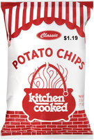 Kitchen Cooked Classic Potato Chips $1.19 Prepriced 2.5 oz. Bag