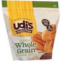 Udi's Gluten Free® Seeded Whole Grain Dinner Rolls 8.4 oz. Bag