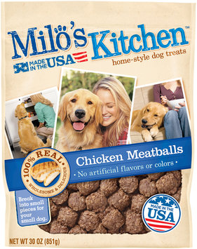 Milo's Kitchen Chicken Meatballs Dog Treats, 30-Ounce
