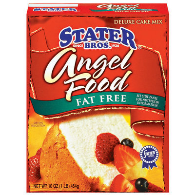 Stater Bros. Angel Food - Fat Free Deluxe Cake Mix 18.25 Oz Box