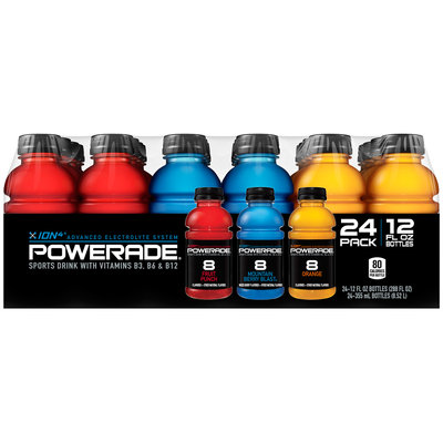 Powerade Ion4 Sports Drink 24-12 fl. oz. Plastic Bottles