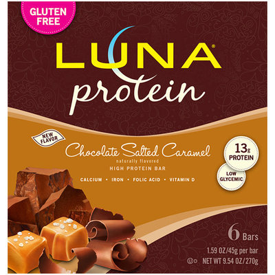 LUNA® Protein Chocolate Salted Caramel Bar 6 ct Box