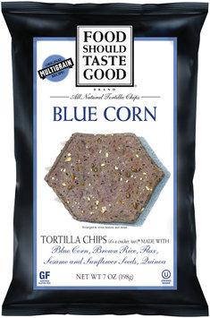 Food Should Taste Good® Blue Corn Tortilla Chips 7 oz. Bag