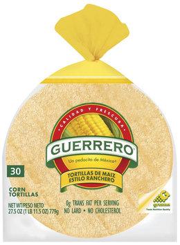Guerrero Corn 30 Ct Tortillas 27.5 Oz Bag