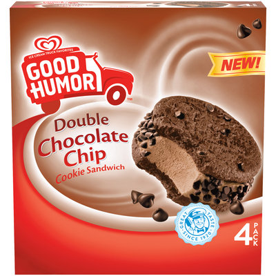 Good Humor™ Double Chocolate Chip Cookie Sandwich 4 ct Box