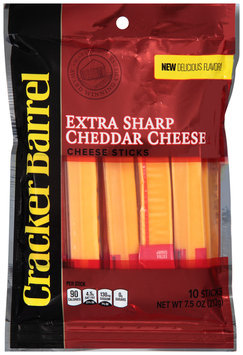 Cracker Barrel Extra Sharp Cheddar Cheese Sticks