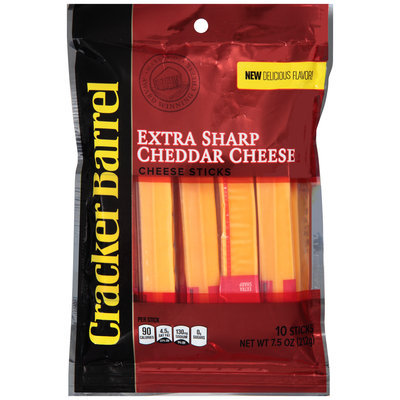 Cracker Barrel Extra Sharp Cheddar Cheese Sticks