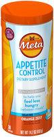 Appetite Control Meta Appetite Control Dietary Supplement, Sugar-Free Orange Zest, 36 Servings