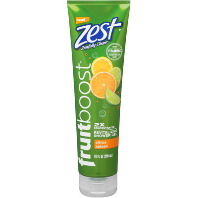 Zest® Fruitboost™ Citrus Splash 2x Concentrated Revitalizing Shower Gel 10 fl. oz. Tube