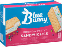 Blue Bunny™ Birthday Party® Reduced Fat Ice Cream Sandwiches 8-4.25 fl. oz. Sandwiches