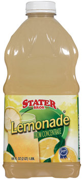 Stater Bros. from Concentrate Lemonade 64 Oz Plastic Bottle