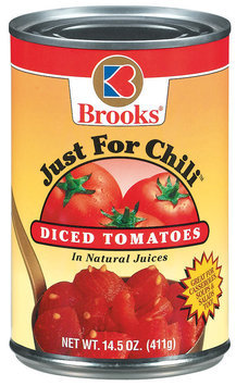Brooks Just For Chili Diced In Natural Juices Tomatoes 14.5 Oz Can